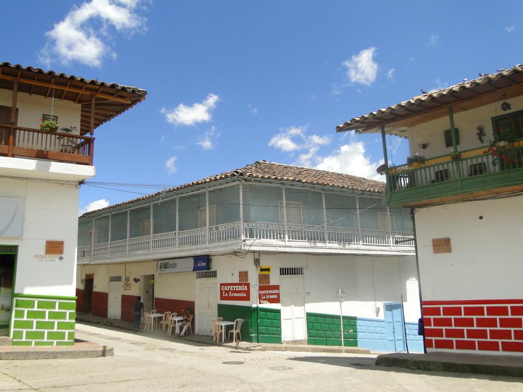 Balcones de la plaza principal.