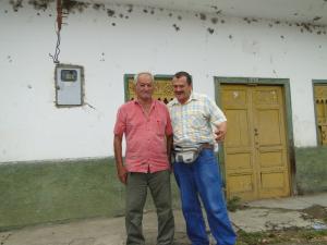 Germán y su amigo de viaje.