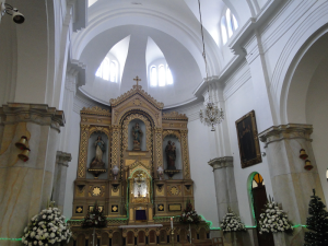Imagen del altar de Santa Lucía.