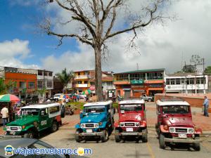 Parque Principal con transportes.