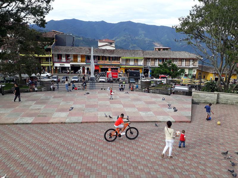 Parque central de Fredonia.