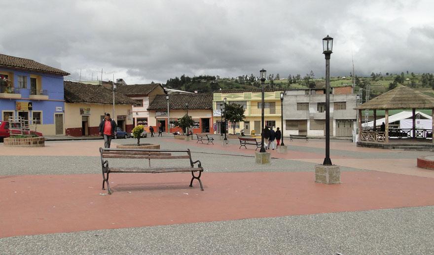 Plaza central de Potosí.