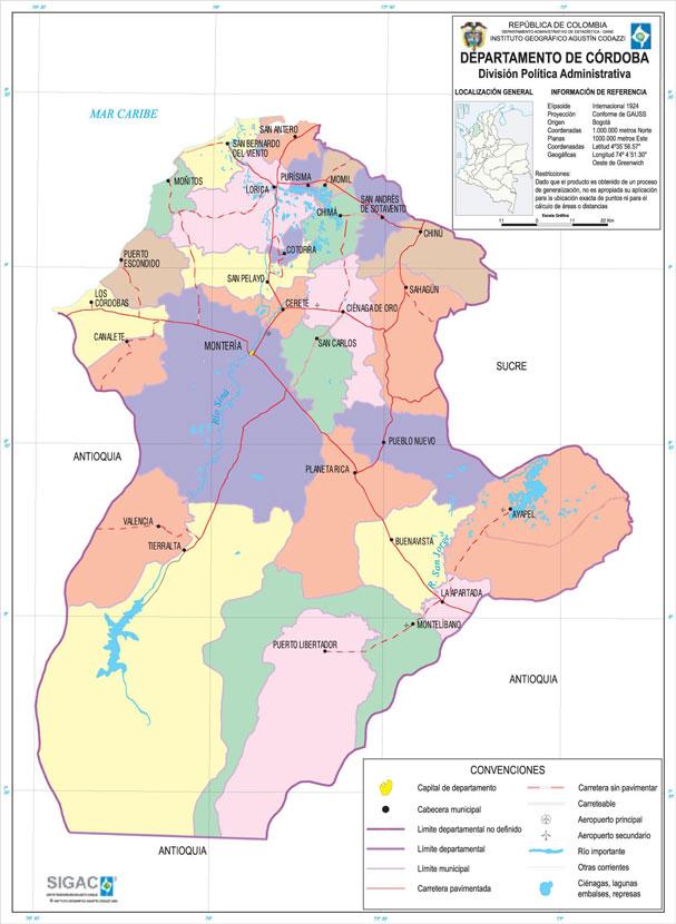 Mapa de Córdoba.