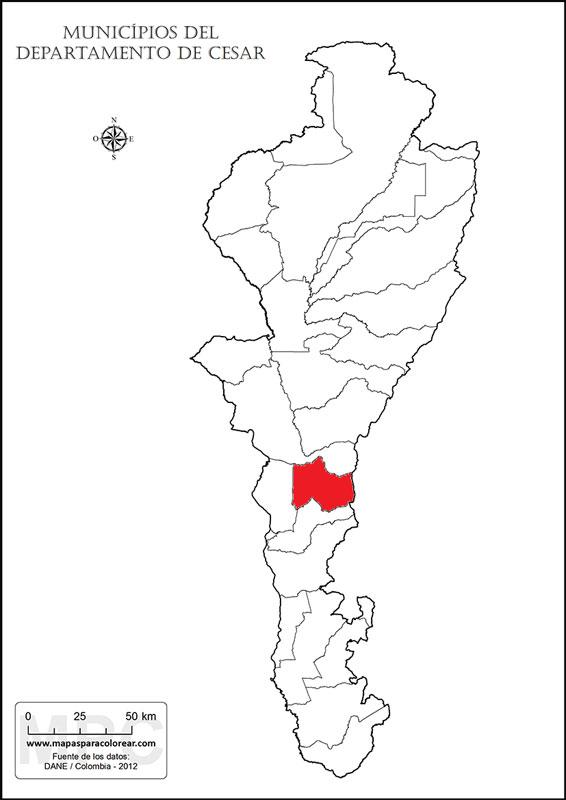 Mapa de Cesar.
